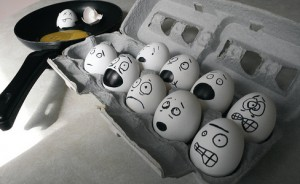 Terrified Eggs from flickr commons